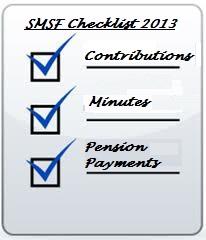SMSF 2013 Checklist
