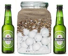 Jar , Golf Balls and Beer